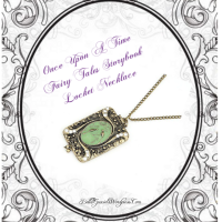 Once Upon A Time Fairy Tales Storybook Locket Necklace