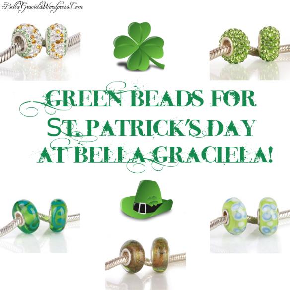 St Patricks Day Green Beads Feature - BellaGraciela.Wordpress.com