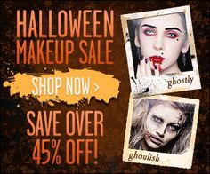 Halloween Makeup Sale - Pinterest