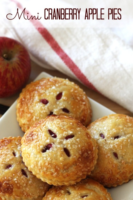Mini Cranberry Apple Pies - CatchMyParty.com